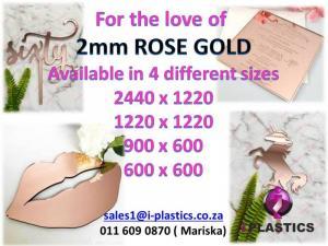 2mm Rose Gold Mirror Acrylic