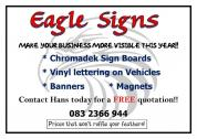 EAGLE SIGNS - QUALITY ADVERTISING BOARDS AND VEHICLE VINYL LETTERING