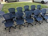 In new condition Herman miller aeron office chairs available