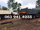 Tlb hire R 3 200 per day and Tipper trucks hire
