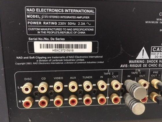 NAD C372 Integrated Amplifier For Sale