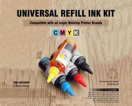 UNIVERSAL INK REFILL KIT FOR DESKTOP PRINTERS