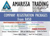 2006 to 2019 CCs & COMPANIES FOR SALE, COMPANY REGISTRATIONS, ACCOUNTING & TAX.