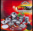 40 PIECES DOLPHIN COOKWARE SET