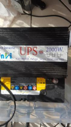 2000W Pure Sine Wive UPS inverter / Charger plus 105AH Deep Cycle Battery in Noordheuwel, Gauteng