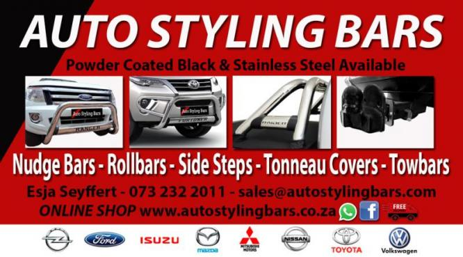 Auto Styling Bars - Nudges, Rollbars Etc - ONLINE SHOP and Specials for July