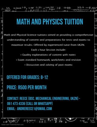 math and physics tuition