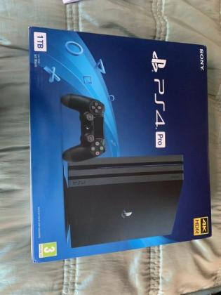Sony Playstation 4 Pro 1TB Game Console - Black, Brand New Sealed Box in Beaufort West, Western Cape