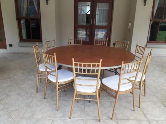 Tiffany chairs, Crockery, Wimbledon Stretch tents, Tables, Linen