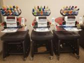 3 Head Modular Melco Amaya 16 Color Industrial Embroidery Machine