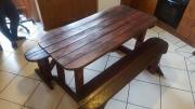 6 Seater Wood Picnic Table