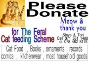 Feral Cats need your Donations of Household goods