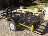 Galvanised golf cart trailer