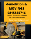 KFE Rubble movers and demolition service 0815855716
