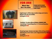 VARIOUS 2ND HAND ITEMS FOR SALE