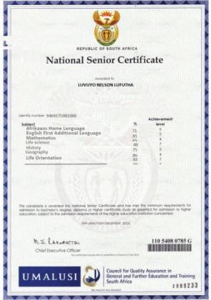 get your matric certificate