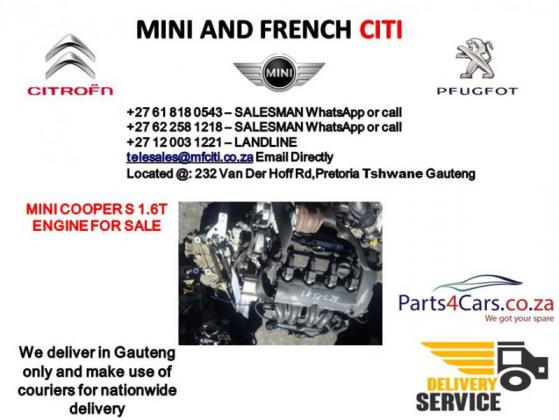 Mini cooper s engine for sale