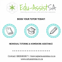 Book your tutor today with Edu-AssistSA