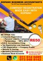 Company registration, Accounting, Bookkeeping, Auditing Service