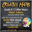 Excellent Private Maths Tuition - All Grades R 150 Per Hour