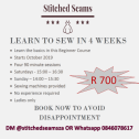 Learn to sew in 4 WEEKS!