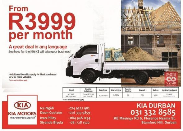 KIA K2700 No Aircon R3999pm