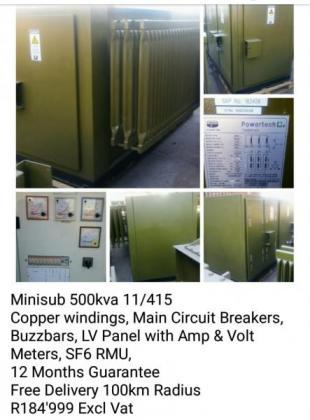 Transformers & Mini Substation in Boksburg, Gauteng