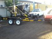 Mini skip trailer and bins