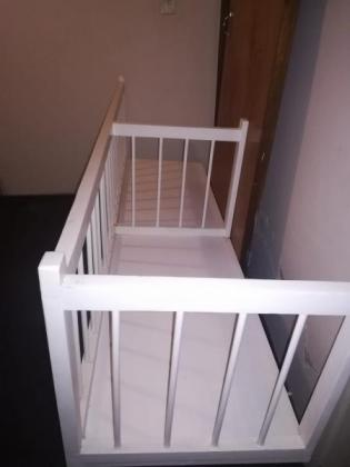 Hand crafted- White wooden Double cot