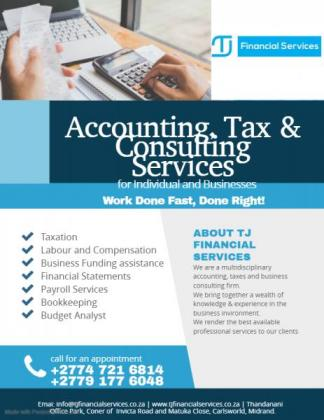 TAXATION AND ACCOUNTING in Bedfordview, Gauteng