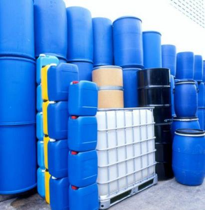 we Auction plastic drums for farm or home use