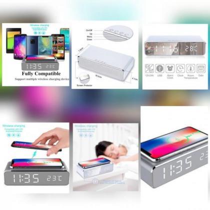 Wireless Charging Alarm Clocks
