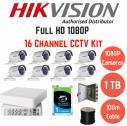 Hikvision 1080p lite 16 Ch 8 cam CCTV Kit