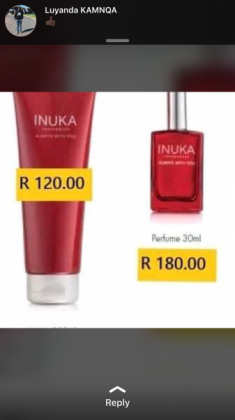 Inuka fragrances in Delft, Western Cape