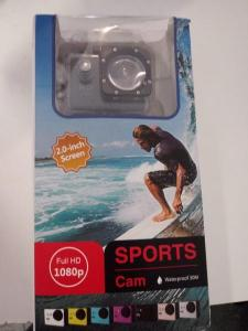 HIGH DEFINITION WATERPROOF HD SPORTS CAMERA 1080P WITH CASE - SILVER