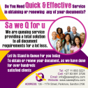 Do you Need quick and effective service in obtaining any of the Following?