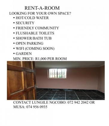 Single Rooms Available in Pietermaritzburg, KwaZulu-Natal