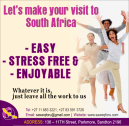 Let's make your visit to South Africa  EASY, STRESS FREE & ENJOYABLE
