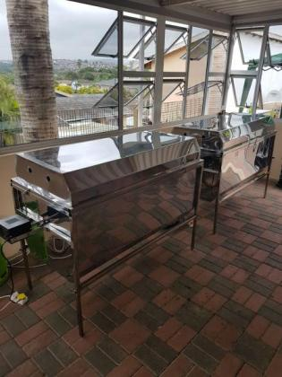 Stainless Steel Gas Spit Braai Machine with 5 Year Warranty