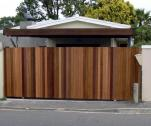 PALISADE FENCING, PERIMETER BEAMS, GATE MOTORS