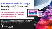 Website Design from R1500 - Basic, eCommerce, Donations, Real Estate and more | Beyond Web Design