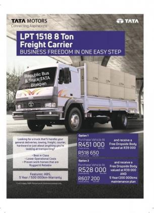 Tata LPT 1518 8 Ton Freight Carrier in Brakpan, Gauteng