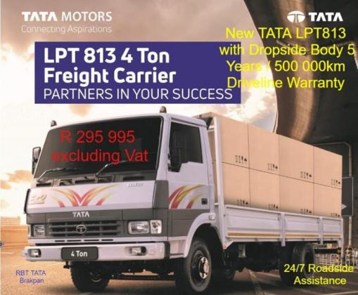 Tata LPT 813 4 Ton Freight Carrier with a Free Dropside Body in Brakpan, Gauteng