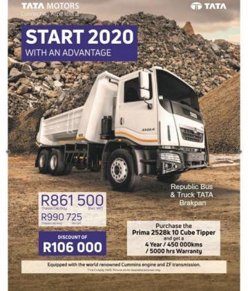 Tata Prima 2528K 10 Cube Tipper in Brakpan, Gauteng
