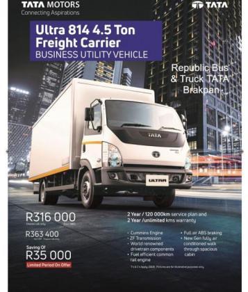 Tata Ultra 814 4.5 Ton Freight Carrier in Brakpan, Gauteng