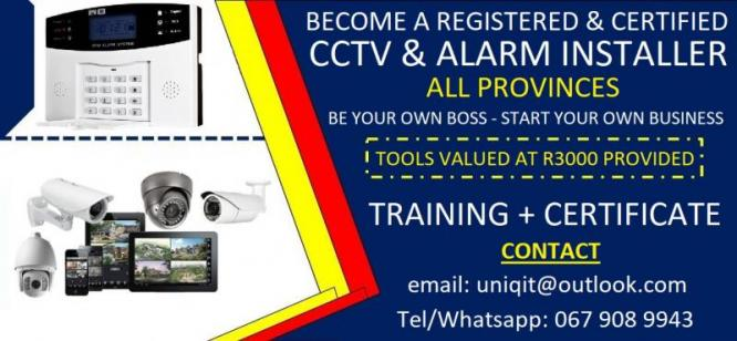 Become a Registered and Certified CCTV and Alarm Installer in Cape Town, Western Cape