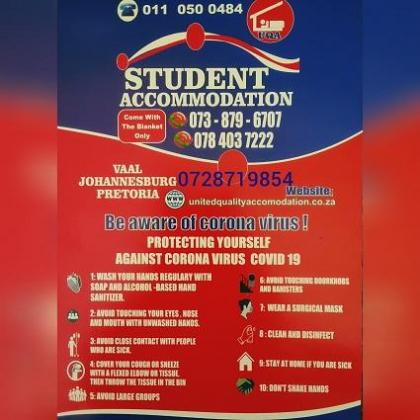 Student Accommodation in Johannesburg This year and Next Year in Johannesburg, Gauteng