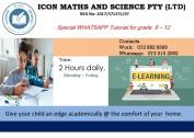 SPECIAL MATHEMATICS WHATSAPP TUTORING FOR GRADE 8-12