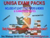 Unisa Exam Packs for sell