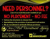 NEED PERSONNEL?